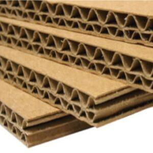 Láminas de cartón doble corrugado kraft