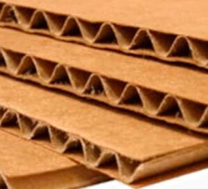 Láminas de cartón microcorrugado kraft